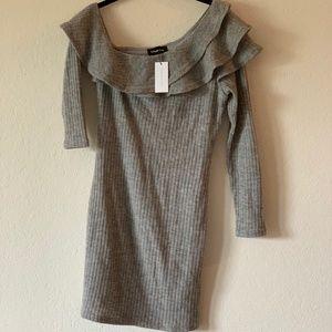 Sugarlips Gray Sweater Dress